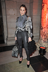 Actress NOOMI RAPACE at a private view to celebrate the opening of the V&A's exhibition of Yohji Yamamoto fashion designs held on 10th March 2011.