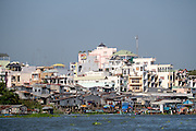 Skyline of Chau Doc, Vietnam.