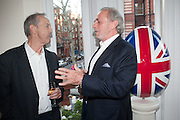 DAN TOPOLSKI; MARK SHAND, Party given by Basia Briggs and Richard Briggs at their home in Chelsea. London. 14 May 2012