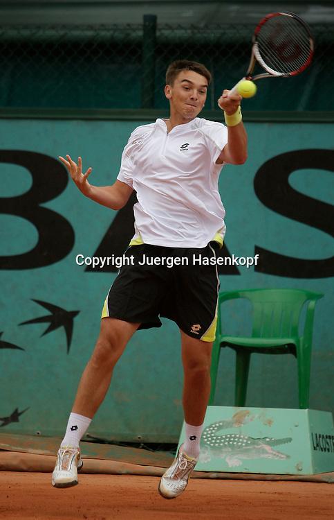 French Open 2009, Roland Garros, Paris, Frankreich,Sport, Tennis, ITF Grand Slam Tournament,<br /> <br /> Andreas Beck (GER).  <br /> <br /> Foto: Juergen Hasenkopf