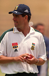 South Africa's Hansie Cronje in the nets on the eve of the first test
