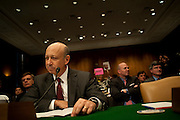 Apr 27,2010 - Washington, District of Columbia USA - .Goldman Sachs CEO Lloyd Blankfein prepares to testify at Tuesday's hearing before the Senate Homeland Security and Governmental Affairs subcommittee Hearing on Wall Street and the Financial Crisis. (Credit Image: © Pete Marovich Images)