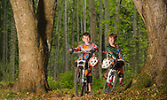 Boys cycling, Monster Trails, Aberdeenshire and Moray Forest District, Forestry Commission Scotland