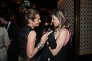 ELLA KRASNER; MARTHA FIENNES, Liberatum Cultural Honour  for John Hurt, CBE in association with artist Svetlana K-Lié.  Spice Market, W London - Leicester Square
