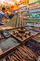Zaatar, a Middle Eastern spice (hyssop), Arab Souk, Old City, Jerusalem, Israel.