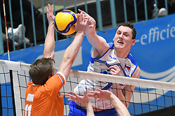Toncek Stern of Slovenia during friendly volleyball match between National Men teams of Slovenia and Netherlands, on Januar 2nd, 2020, in Dvorana Tabor, Maribor, Slovenia. Photo by Milos Vujinovic / Sportida