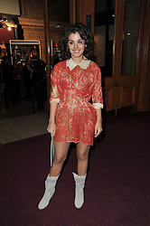 Katie Melua at the opening night of Totem by Cirque du Soleil held at The Royal Albert Hall, London on 5th January 2011.