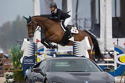 Aguirre Mariel Victoria, (MEX), Cortez <br /> Grans Prix CSI 2*<br /> Longines Global Champions Tour - Antwerp 2015<br />  © Hippo Foto - Dirk Caremans<br /> 25/04/15