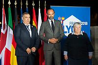 Abdelaouafi Laftit. Ministre de l interieur (Maroc)<br /> Edouard Philippe<br /> Jacqueline Gourault<br /> Enjeux migratoires / Securite et lutte contre le terrorisme<br /> Une reunion du G6 associant les ministres de l Intérieur des six plus grands pays de l'UE (France, Allemagne, Royaume Uni, Espagne, Italie, Pologne), le Commissaire europeen a la Sécurité et le Commissaire europeen aux Migrations, ainsi que le Procureur general des Etats-Unis et une representante de la Secretaire americaine a la securite intérieure, a lieu les 8 et 9 octobre a Lyon.