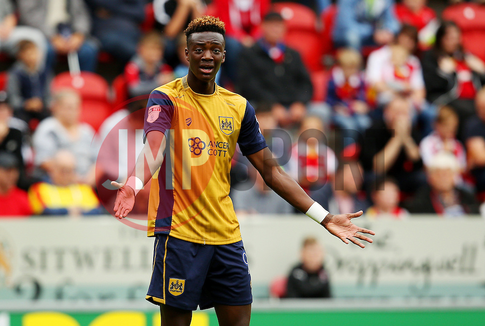 Tammy Abraham of Bristol City gestures - Mandatory by-line: Matt McNulty/JMP - 10/09/2016 - FOOTBALL - Aesseal New York Stadium - Rotherham, England - Rotherham United v Bristol City - Sky Bet Championship