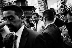 Interior Minister Matteo Salvini leaving Palazzo Chigi after the first Council of Minister, on June 01, 2018 in Rome, Italy.  Christian Mantuano / OneShot