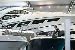 © Licensed to London News Pictures. 06/01/2017. London, UK. Sailing enthusiasts visit the London Boat Show at ExCel London on Friday, 6 January 2017. Until the 15th of January the London Boat Show will showcase, demonstrate and sell maritime equipment ranging from luxury yachts to dinghies. Photo credit: Tolga Akmen/LNP