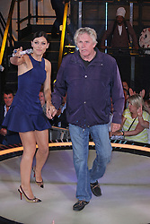 © Licensed to London News Pictures. 12/09/2014, UK. Emma Willis & Gary Busey, Celebrity Big Brother Summer 2014 - Live Final, Elstree Studios, Elstree UK, 12 September 2014. Photo credit : Brett D. Cove/Piqtured/LNP
