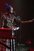 New York, NY- December 5: Recording Artist Erykah Badu performs at the Science of Addiction Tour 2011 AD featuring Erykah Badu and the Cannibinoids with Theophilus London held at the Best Buy Theater on December 5, 2011 in New York City. Photo credit: Terrence Jennings