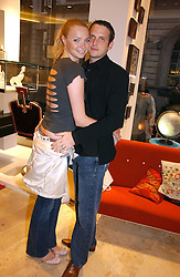 Model JODIE KIDD and her husband AIDEN BUTLER at the opening of the new Diesel shop at 130 New Bond Street, London W1 on 18th May 2006.<br /><br />NON EXCLUSIVE - WORLD RIGHTS