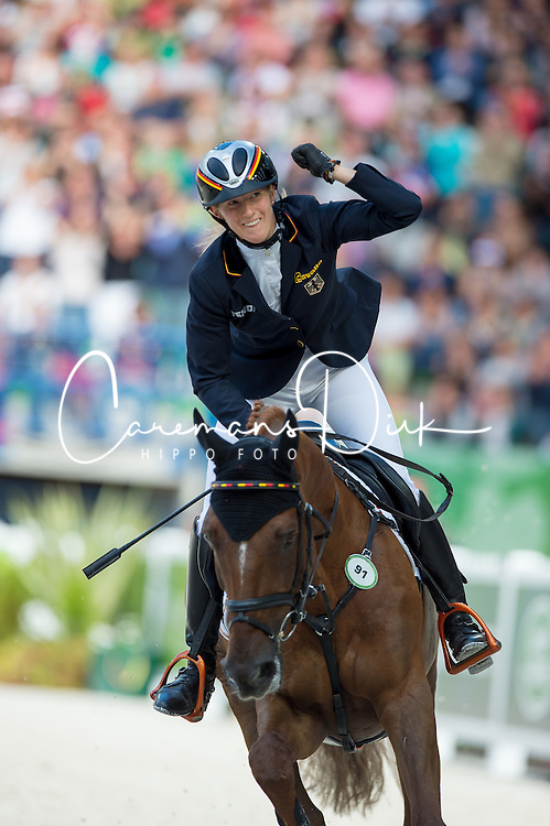 Sandra Auffarth, (GER), Opgun Louvo - Jumping Eventing - Alltech FEI World Equestrian Games™ 2014 - Normandy, France.<br /> © Hippo Foto Team - Jon Stroud<br /> 31-08-14