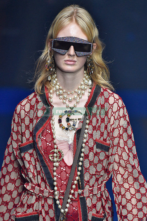 Model Laura Hagested walks on the runway during the Gucci Fashion Show during Milan Fashion Week Spring Summer 2018 held in Milan, Italy on September 20, 2017. (Photo by Jonas Gustavsson/Sipa USA)