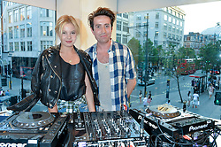 NICK GRIMSHAW and PAIGE REIFLER at the French Connection #NeverMissATrick Launch Party held at French Connection, 396 Oxford Street, London on 23rd July 2014.