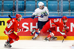 Ken Ograjensek of Slovenia vs Nikita Ustinenko of Belarus during ice hockey match between Belarus and Slovenia at IIHF World Championship DIV. I Group A Kazakhstan 2019, on May 2, 2019 in Barys Arena, Nur-Sultan, Kazakhstan. Photo by Matic Klansek Velej / Sportida