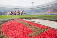 ROTTERDAM - Eerste training van Feyenoord , voetbal , seizoen 2015-2016 , Stadion De Kuip , 28-06-2015 , Feyenoord spelers doen opwarming