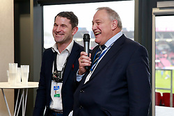 Bristol Rugby chairman Chris Booy is questioned during a Q&A in the Heineken Lounge hosted by Ben Breeze - Mandatory byline: Rogan Thomson/JMP - 30/01/2016 - RUGBY UNION - Ashton Gate Stadium - Bristol, England - Bristol Rugby v Jersey - Greene King IPA Championship.