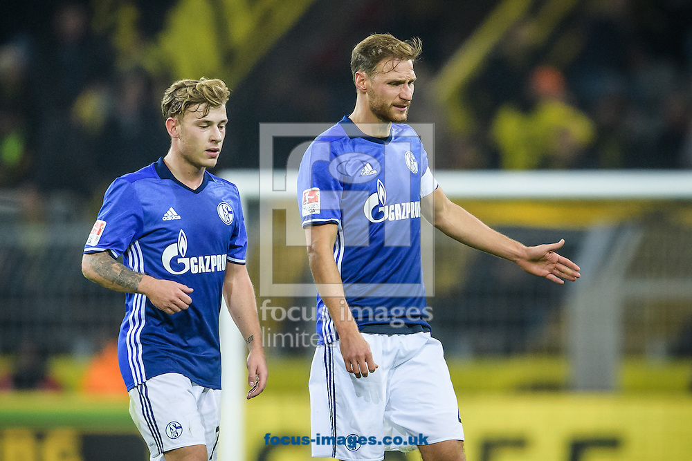 Max Meyer and Benedikt Hoewedes of FC Schalke 04 during the Bundesliga match at Signal Iduna Park, Dortmund<br /> Picture by EXPA Pictures/Focus Images Ltd 07814482222<br /> 29/10/2016<br /> *** UK &amp; IRELAND ONLY ***<br /> EXPA-EIB-161030-0050.jpg