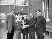 Delivery of the Bic Perpetual trophy to the Windsurfing College, Belvedere College, Denmark Street, Dublin,<br />