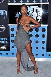 Justine Skye at the 2017 BET Awards held at Microsoft Theater on June 25, 2017 in Los Angeles, CA, USA (Photo by Sthanlee B. Mirador) *** Please Use Credit from Credit Field ***