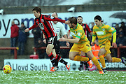 Morecambe Midfielder Andrew Flemming during the Sky Bet League 2 match between Morecambe and Yeovil Town at the Globe Arena, Morecambe, England on 16 January 2016. Photo by Pete Burns.
