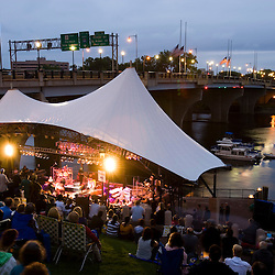 A concert on the riverfront in Hartford, Connecticut