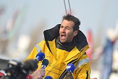 2013 - ALESSANDRO DI BENEDETTO ARRIVAL - VENDEE GLOBE - LES SABLES D'OLONNE - FRANCE