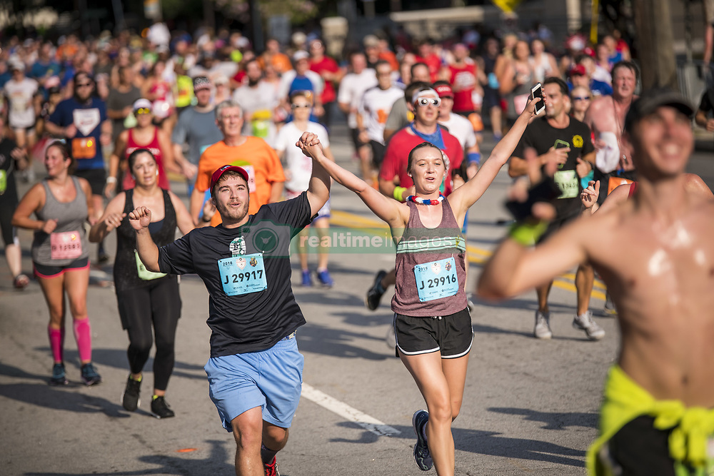 July 3, 2018 - 60,000 participants ran in the 49th AJC Peachtree Road Race in Atlanta. The annual tradition that is held on the 4th of July is the largest 10k in the world. (Credit Image: © Steve Eberhardt via ZUMA Wire)
