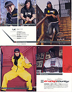 Part of a fashion spread I shot for Drunknmunky hip-hop fashion, featuring Taboo of the Black Eyed Peas and Brian Deegam of Metal Mulisha (top left).
