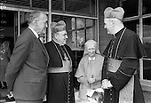 1967 - Cardinal John Cody of Chicago with American pilgrims in Drogheda