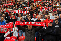 Liverpool fans in the stands