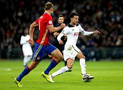 Dele Alli of Tottenham Hotspur runs with the ball - Mandatory by-line: Robbie Stephenson/JMP - 07/12/2016 - FOOTBALL - Wembley Stadium - London, England - Tottenham Hotspur v CSKA Moscow - UEFA Champions League