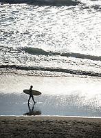 San Francisco, 20171015:  Reiser i San Francisco. Litt gatefoto og turist. Surfer på Ocean Beach utenfor San Francisco.  FOTO:  TOM HANSEN