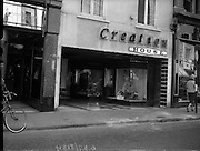 16/05/1959<br /> 05/16/1959<br /> 16 May 1959<br /> Creation House, Grafton St., Dublin. Exterior of premises.