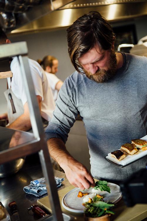Chef Jeremy Charles at his new restaurant the Merchant Tavern, Newfoundland, Canada