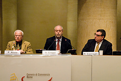 ROMA. Road to contemporary art - artfair press conference at Adriano Temple in Rome Umberto Croppi Achille Bonito Oliva