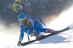 Matts Olsson of Sweden during  1st Run of Men's Giant Slalom of FIS Ski World Cup Alpine Kranjska Gora, on March 5, 2011 in Vitranc/Podkoren, Kranjska Gora, Slovenia.  (Photo By Vid Ponikvar / Sportida.com)