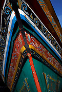 THAILAND; Songkhla.Kao Seng fishing village.Korlae painted in the southern Thai muslim tradition.