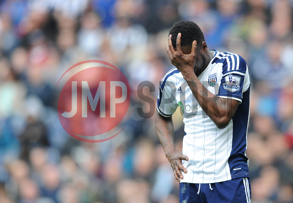 West Bromwich Albion's Brown Ideye cuts a dejected figure - Photo mandatory by-line: Dougie Allward/JMP - Mobile: 07966 386802 - 04/04/2015 - SPORT - Football - West Bromwich - The Hawthorns - West Bromwich Albion v QPR - Barclays Premier League