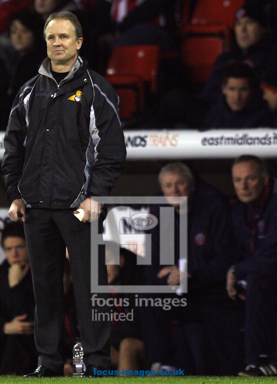 Sheffield - Tuesday January 27th, 2009: Doncaster Rovers manager Sean O'Driscoll delighted with the win as Sheffield United manager Kevin Blackwell looks on in dispear during the Coca Cola Championship match at Bramall Lane, Sheffield. (Pic by Darren Walker/Focus Images)