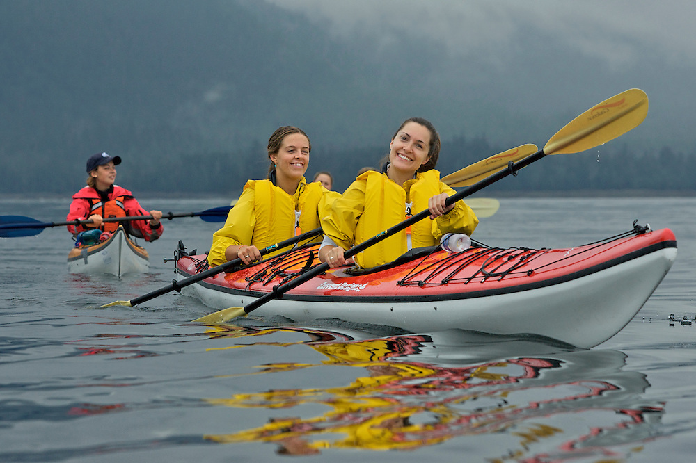 Out of state visitors take sea kayak tour Ketchikan, AK (M.R.)