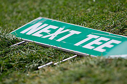 "Sign ""Next tee"" during golf competition in final day of International European Ladies Amateur Championship 2012, on July 28, 2012 in Smlednik at Ljubljana, Slovenia. (Photo by Matic Klansek Velej / Sportida.com)"