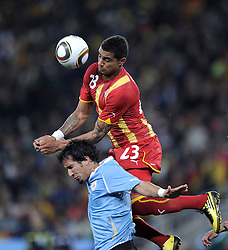 Kevin Prince BOATENG  Mauricio VICTORINO during the 2010 FIFA World Cup South Africa Quarter Final match between Uruguay and Ghana at the Soccer City stadium on July 2, 2010 in Johannesburg, South Africa.