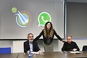 """Marco Crespi, Mara Invernizzi, Giovanni Petrucci<br /> Conferenza Stampa Presentazione Progetto """"Ragazze in Tiro""""<br /> FIP 2018<br /> Milano, 30/03/2018<br /> Foto F. Bertani / Ciamillo - Castoria"""