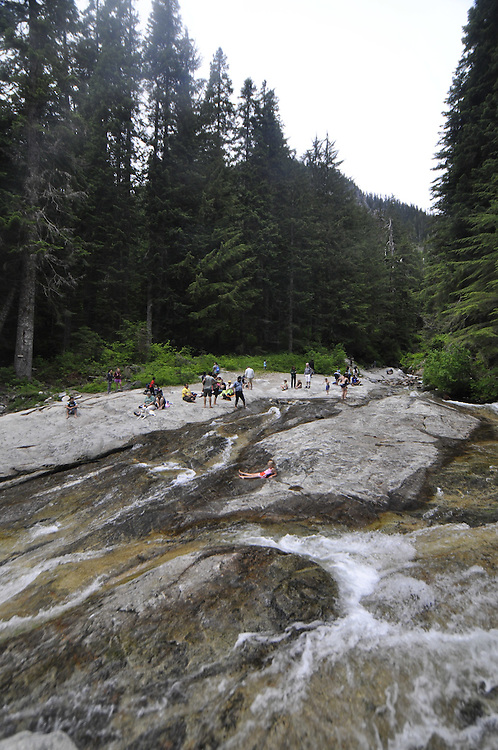Denny Creek Waterslides, Mt. Baker-Snoqualmie National Forest, Washington, US