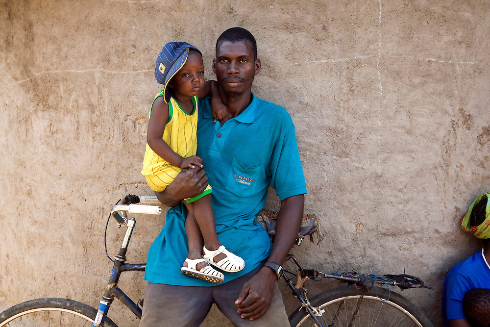 Kinza Diallo's husband and son. Kinza lost a child to diarrhea. interviewed by Viv. Morola, Mali.